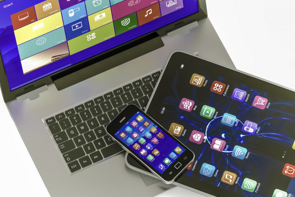 Electronic devices with colorfull icon