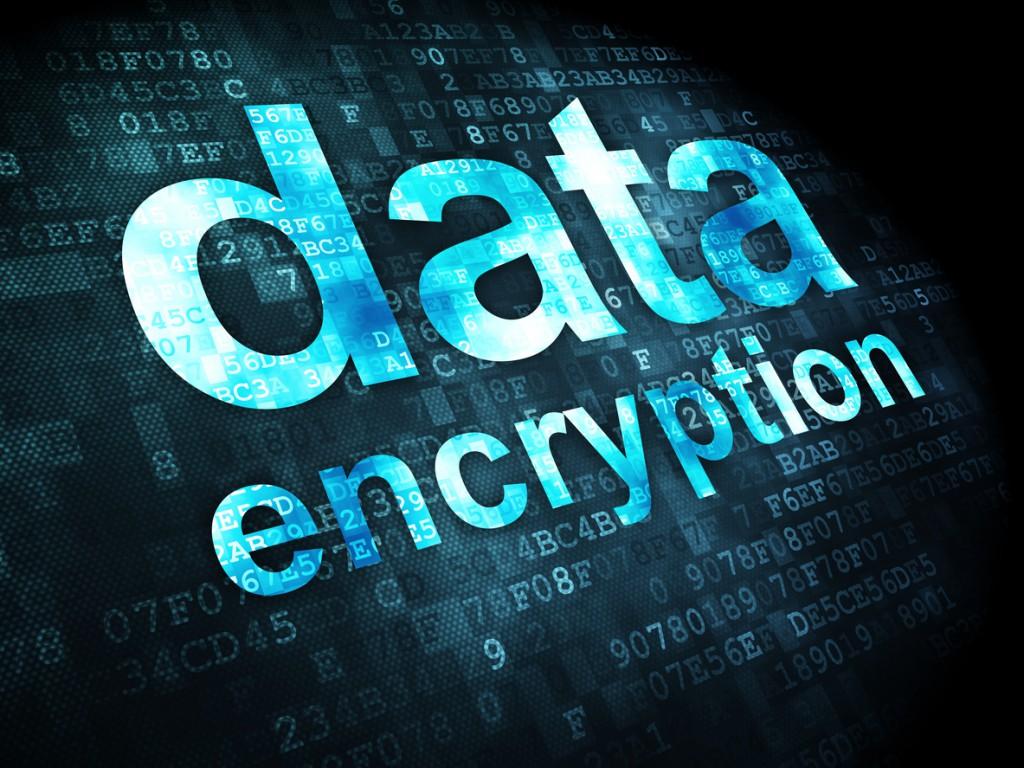 Data encryption with digital background