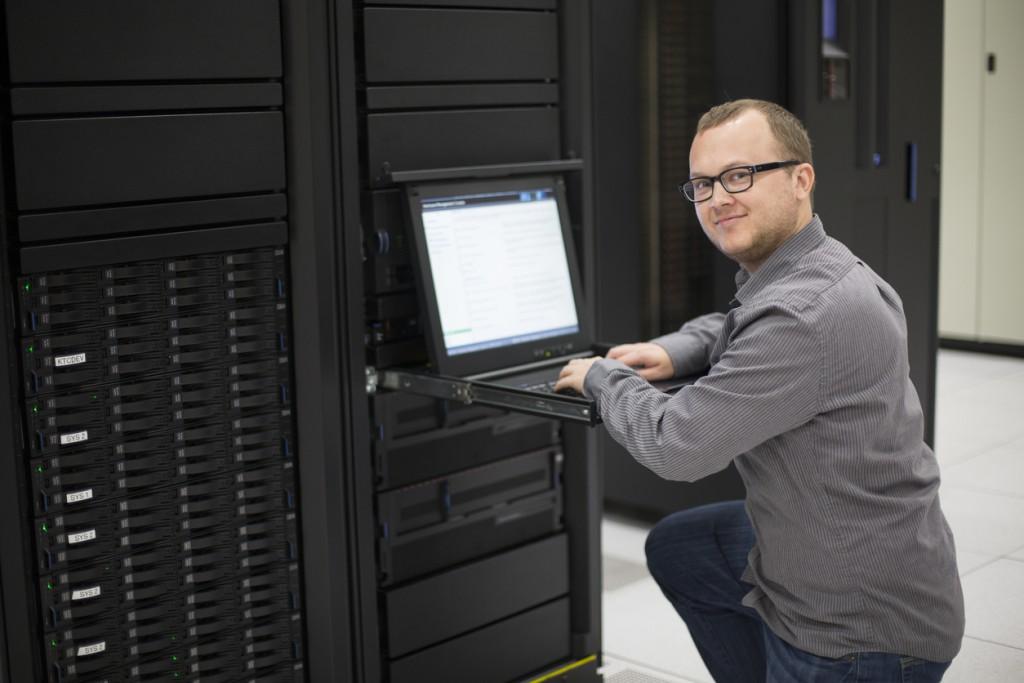 IT Programmer in Server Room