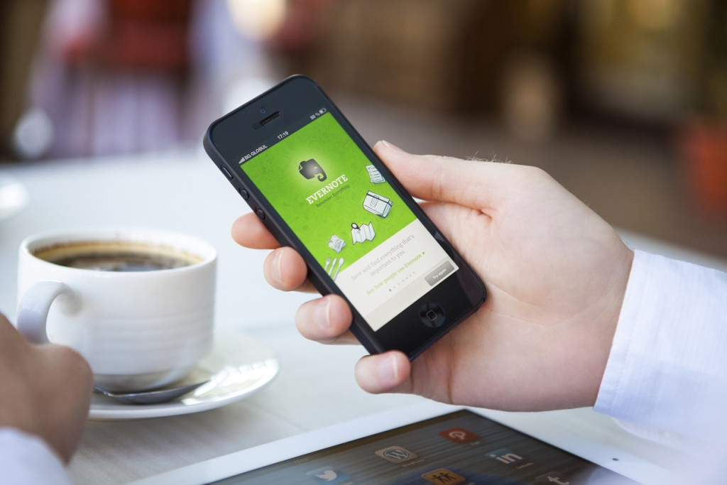 Evernote app on iPhone 5